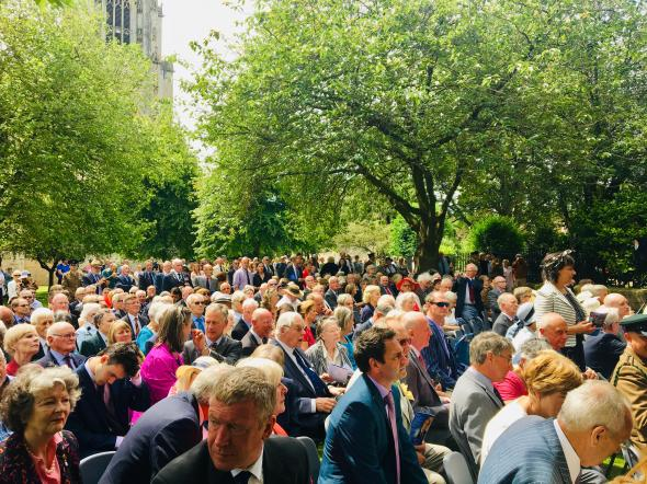 The assembled guests at York Minster July 2019