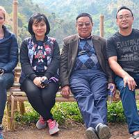 From the right, Mhasisalie Solo, KES Nagaland manager, Dr Ngully next to him, and on the far left is Annie Getley, the great granddaughter of General Grover, helping the work of KES in Nagaland